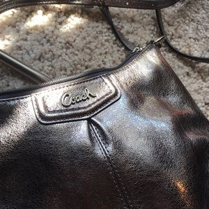 Coach Bags - Coach Pewter Silver purse
